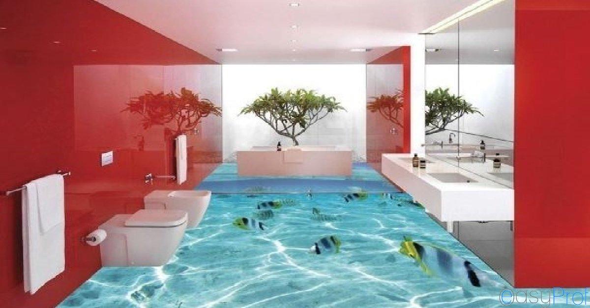 Pavimenti in resina autolivellanti in 3d effetti stupefacenti ma quanto costa imbianchino - Pavimenti decorativi in resina ...