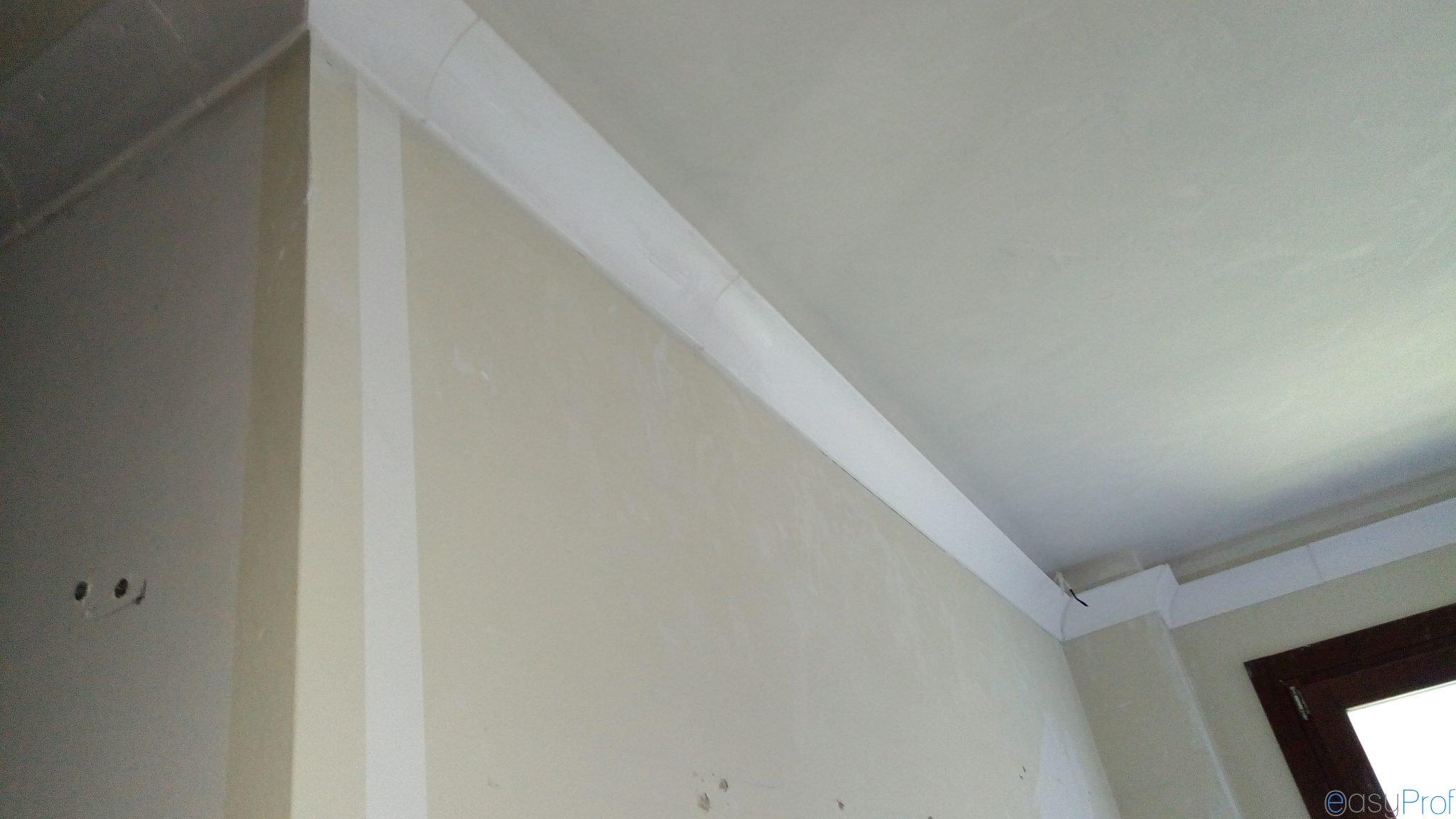 Posa e montaggio cornici in polistirolo appartamento Milano - Imbianchino Milano: tinteggiature ...