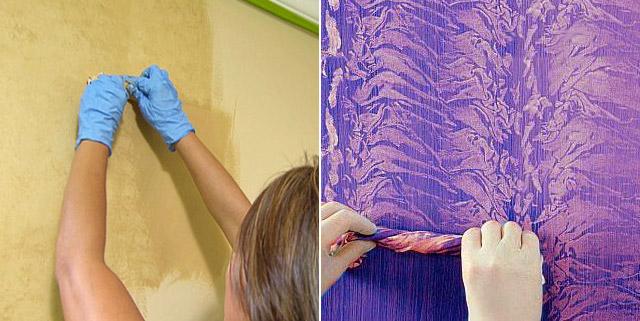 La tecnica della cenciatura per dare quel tocco di unicità alle pareti