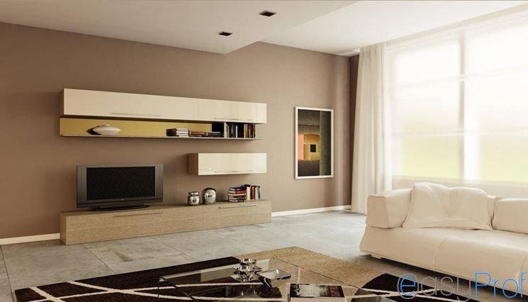 tinteggiare le pareti interne con due colori quali colori