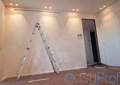 Decorazione Oikos Ottocento perla pareti soggiorno